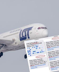 Odwołany lot z Warszawy do Londynu. Wcześniej LOT pięć razy zmieniał godzinę