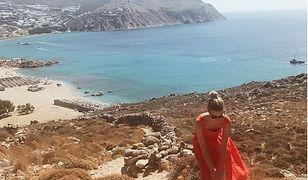 Kasia Tusk na greckiej wyspie