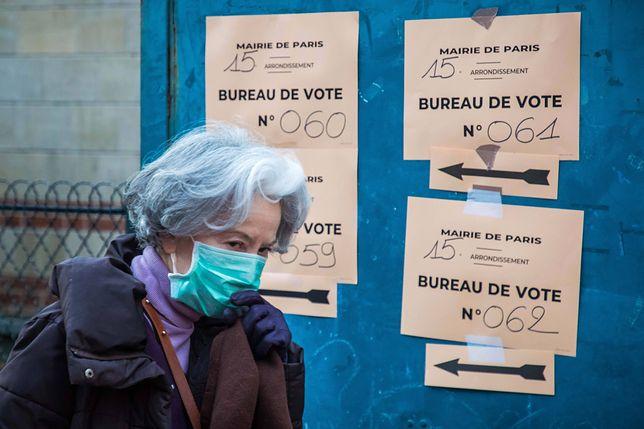 Koronawirus na świecie. Mimo epidemii we Francji odbywa się dziś głosowanie w wyborach samorządowych.