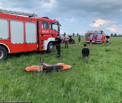 Tragedia w Nowym Targu. Pilot szybowca podczas lądowania zabił motocrossowca