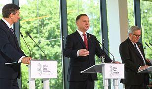 Andrzej Duda przemawiał na konferencji z udziałem m.in. szefa KE