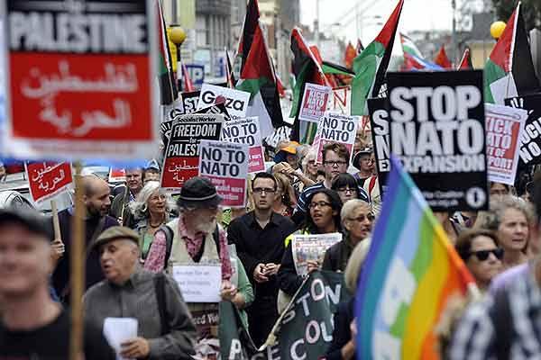 Demonstracja w Newport