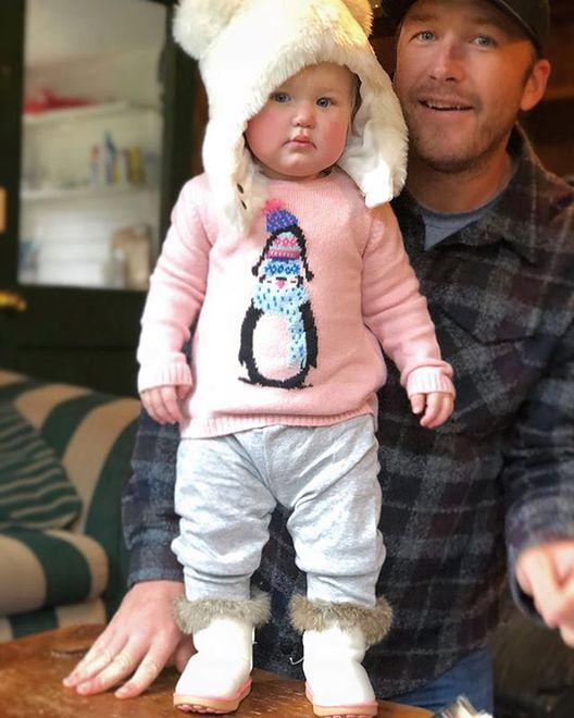 Bode Miller i jego córeczka Emeline