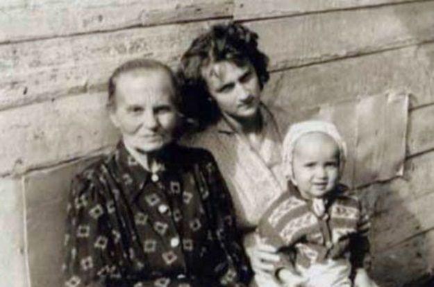 Władimir Putin i jego matka Maria Iwanowna