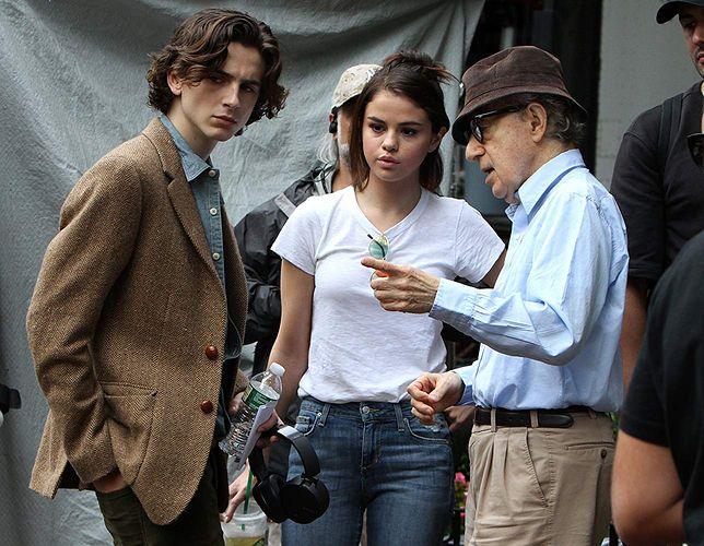 """Timothée Chalamet, Selena Gomez i Woody Allen na planie """"A Rainy Day in New York"""""""