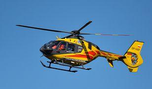 Pobite dziecko zostało zabrane helikopterem do szpitala.