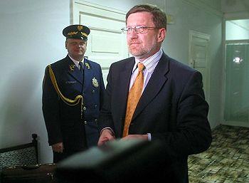 Były minister skarbu Wiesław Kaczmarek