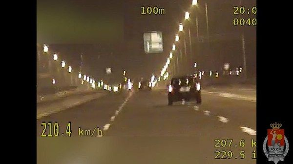 Pędził 210 km/h po trasie S79. Zatrzymali go stołeczni policjanci