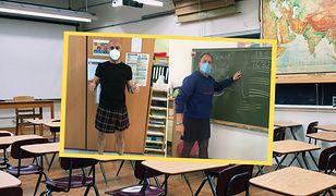 Hiszpania. Nauczyciele przyszli do pracy w spódniczkach. Wyrazili wsparcie dla ucznia wyrzuconego ze szkoły