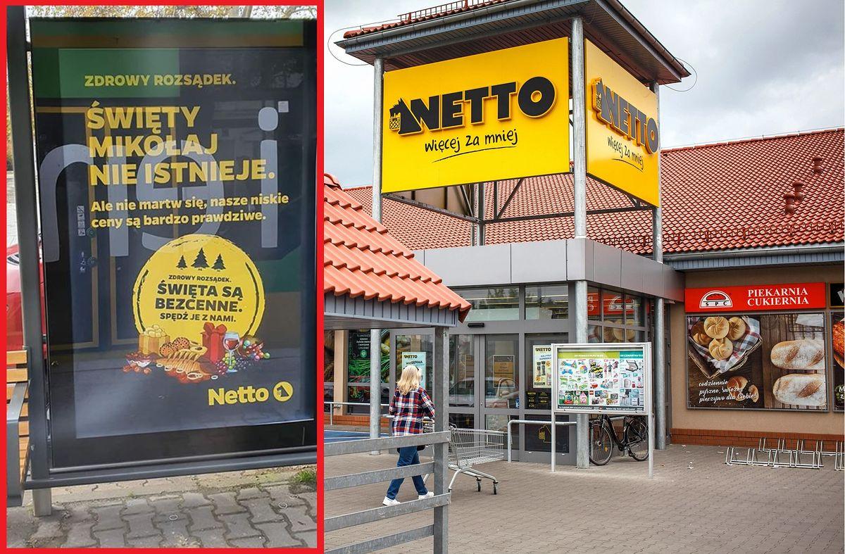 Kontrowersyjne reklamy na przystankach. Netto zabiera głos