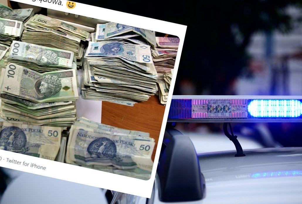 Policja w Poznaniu szuka właściciela sporej ilości gotówki