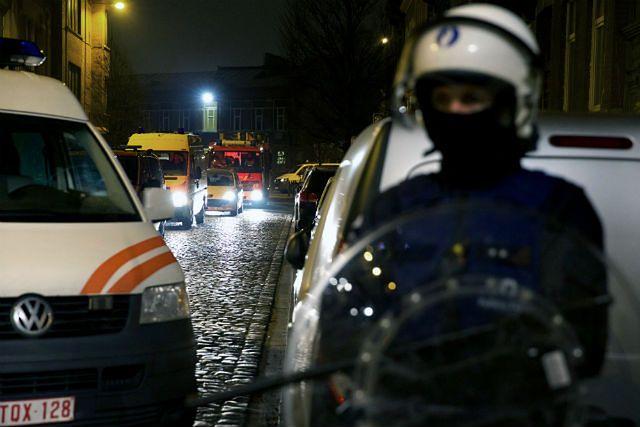 Blokada policyjna w trakcie aresztowania Absuslama