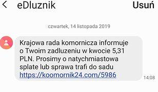 KRK ostrzega przed SMS-ami ws. zadłużenia.