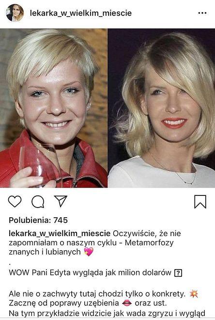 Metamorfoza Edyty Pazury