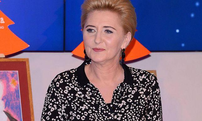 Agata Kornhauser-Duda w stylowym płaszczu. Ten kolor będzie hitem wiosny