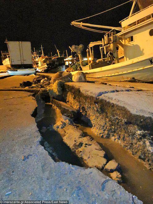 Trzęsienie ziemi w Grecji. Ostrzeżenie o tsunami