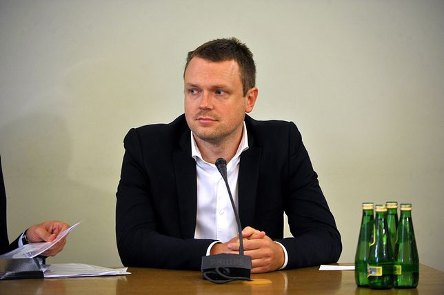 Michał Tusk podczas przesłuchania przed komisją śledczą ds. Amber Gold.