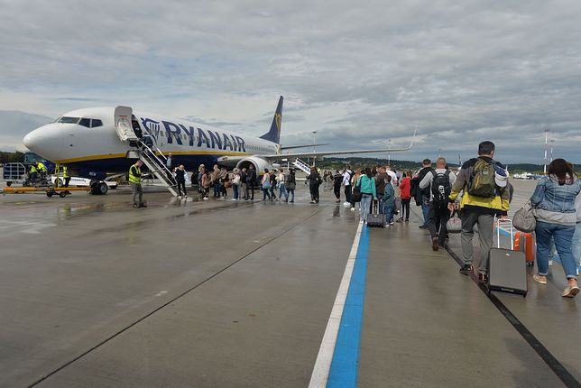 Samolot należący do linii Ryanair