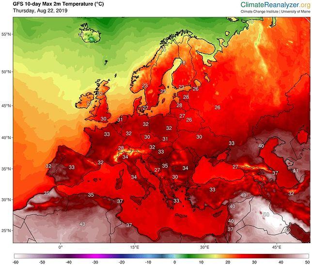 Prognoza pogody. Ostatnie dni sierpnia i pierwsze dni września będą upalne w całej Europie