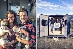 Jakub Tolak i Zosia Samsel od 15 miesięcy żyją w podróży. Van jest ich domem