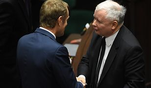 Donald Tusk i Jarosław Kaczyński - to im Polacy ufają w najmniejszym stopniu