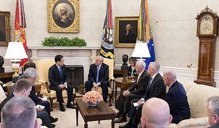 Prezydent Donald Trump rozmawiał w Waszyngtonie z przedstawicielami rządu Korei Płd.