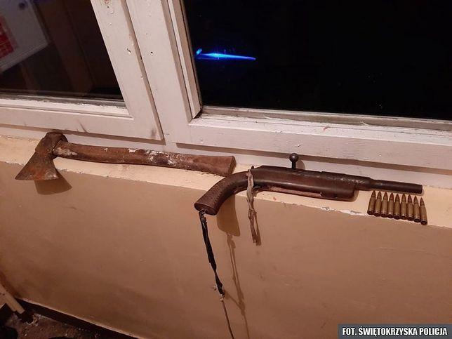 Kielce. Spał na klatce schodowej z siekierą (fot.: policja.gov.pl)