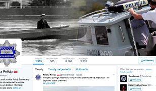 Profil polskiej Policji na Twitterze