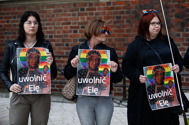 W Krakowie protestowano w obronie Elżbiety P.