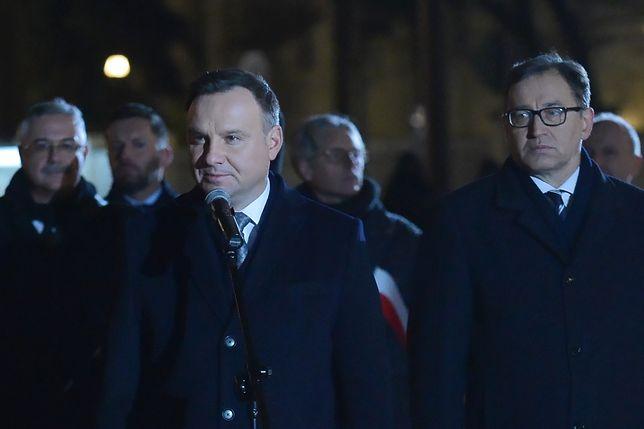 """Andrzej Duda mówił o """"trudnym marszu do wolności"""""""