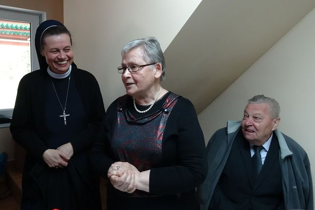 Siostra Małgorzata z rodzicami - Genowefą i Edwardem