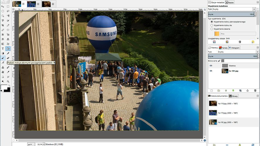 Modyfikacja GIMP-a dla przyzwyczajonych do Photoshopa