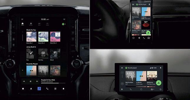 Android Auto na różnych ekranach, źródło: techcrunch.com