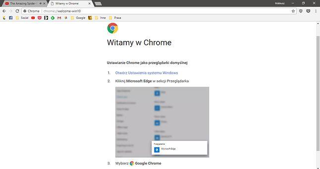 W wersji angielskiej tytuł brzmi Get To Chrome Faster