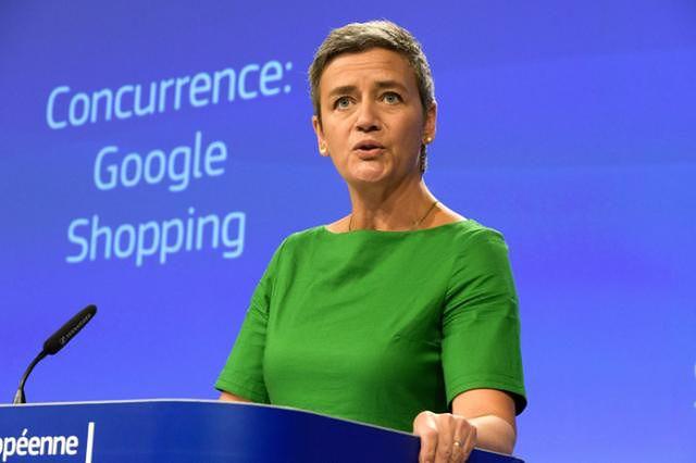 Margrethe Vestager, konferencja prasowa Komisji Europejskiej w sprawie Google