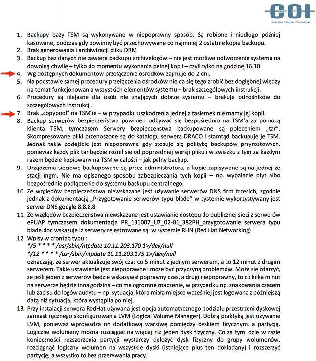 Wnioski z audytu platformy ePUAP (źródło: Niebezpiecznik)