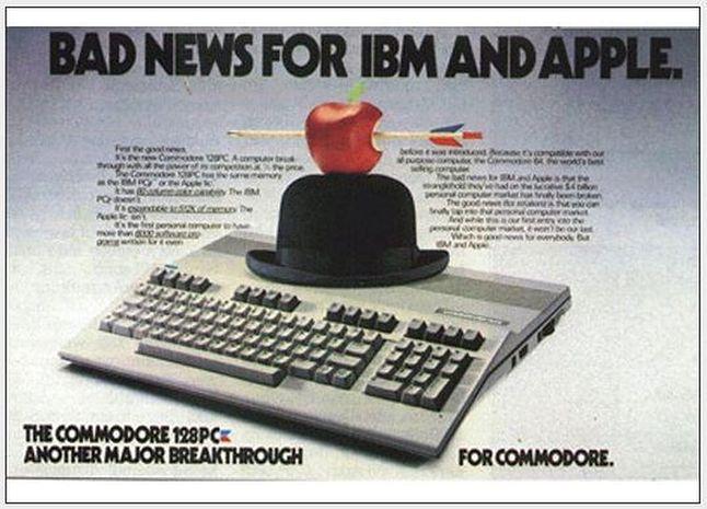 Commodore C128: IBM i Apple miały otrzymać bardzo ważną wiadomość