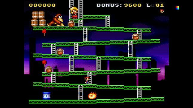 Bardziej klasycznie się nie da: Donkey Kong na emulatorze SNES-a
