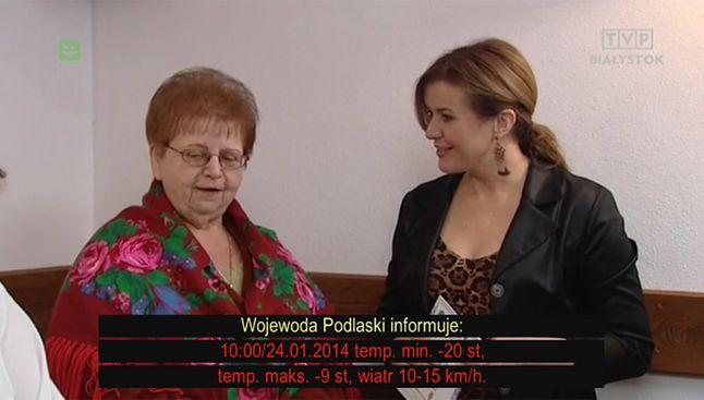 przykładowy komunikat w TVP Regionalna