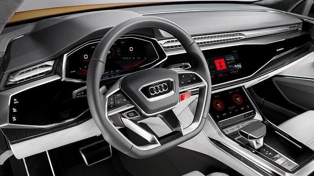 Audi Q8 Sport z Androidem – grafika koncepcyjna