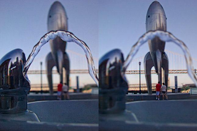 Przykładowe zdjęcie z Lytro z dwoma ustawieniami ostrości