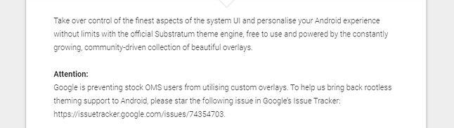 Twórcy Substratum wzywają do poparcia prośby o cofnięcie blokad w Androidzie. Teraz wiadomo już, że w najbliższym czasie Google nie planuje w tym zakresie żadnych zmian.