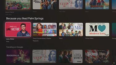 Android TV zyska kolejną opcję z GoogleTV. Aktualizacja na dniach - Stopklatka z prezentacji Google TV
