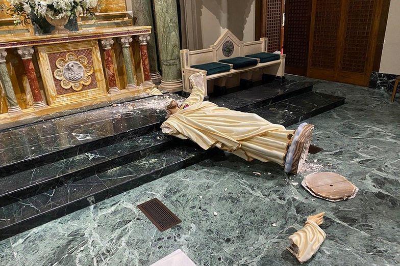 Wandal zniszczył figurę Chrystusa. Miała prawie 90 lat