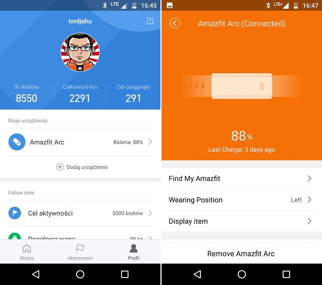 MiFit vs Amazfit - Activity Tracker
