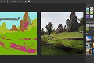Nvidia Canvas do pobrania. SI zmieni bazgroły w realistyczne krajobrazy - Kadr z filmu prezentującego Canvas
