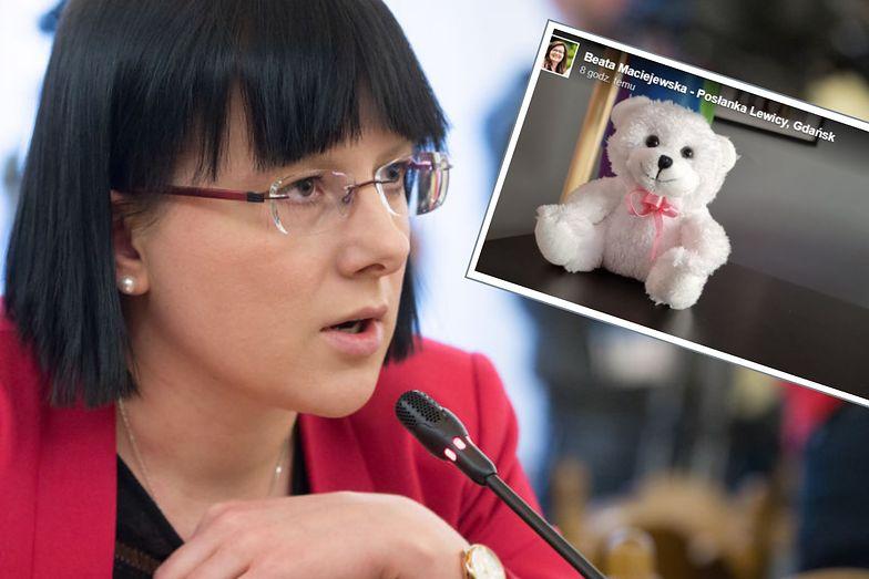 Kaja Godek wysłała posłance Lewicy misia. Jej reakcja ją rozwścieczyła