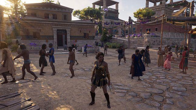 Typowe greckie popołudnie - tańce, śpiewy, filozofowanie...