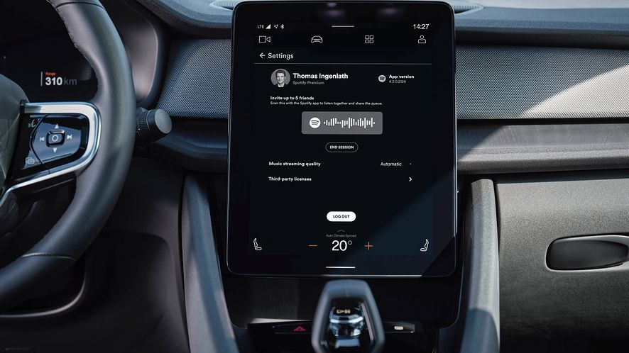 Android Automotive i Spotify z nową funkcją, fot. materiały prasowe Polestar