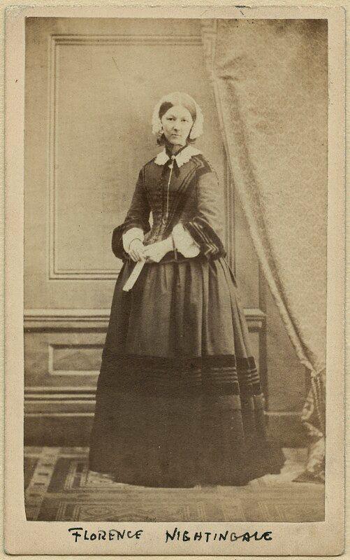 Zdjęcie Florence Nightindale z kolekcji National Portrait Gallery (CC)